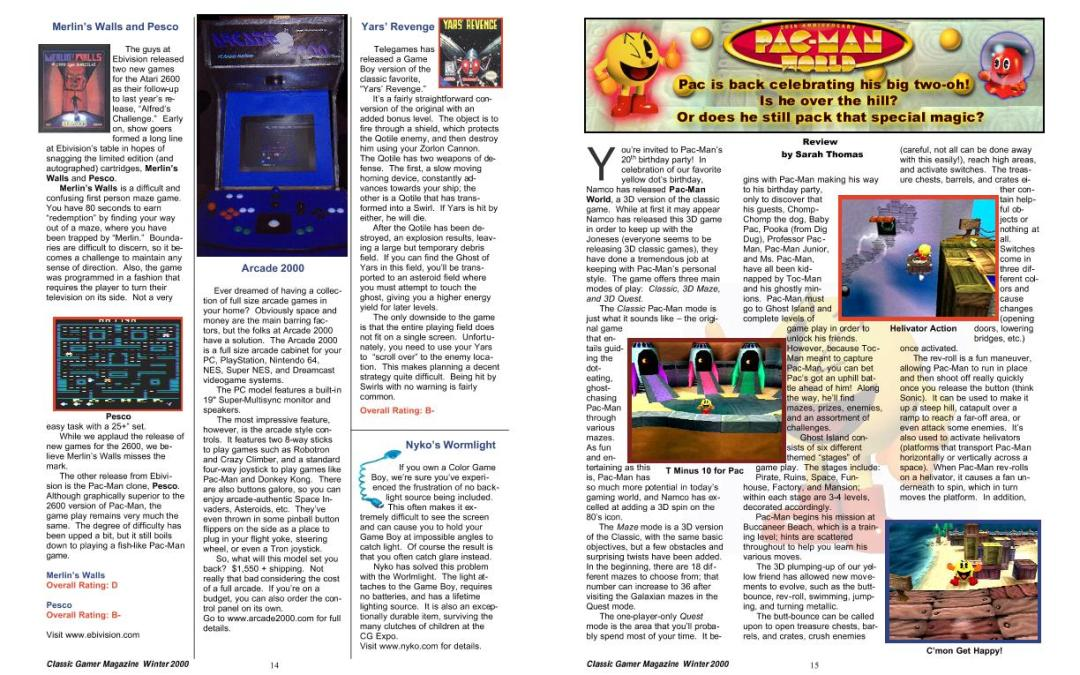 Pac-Man World Review by Sarah Thomas