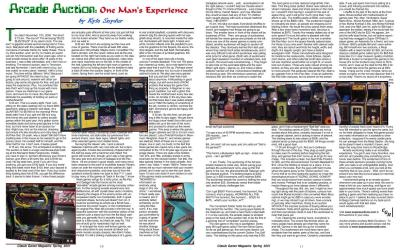 Arcade Auction: One Man's Experience