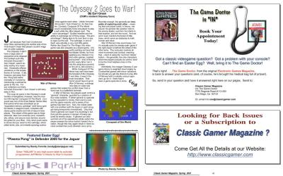 The Odyssey 2 Goes to War! By Earl Green