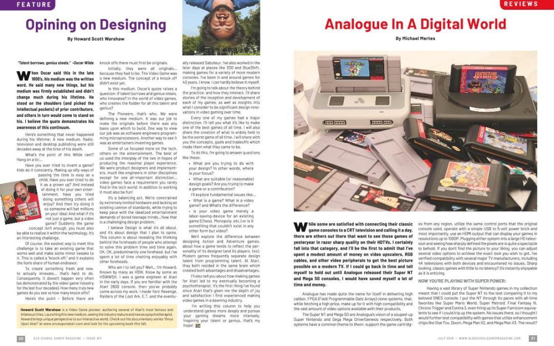 Opining on Designing – By Howard Scott Warshaw