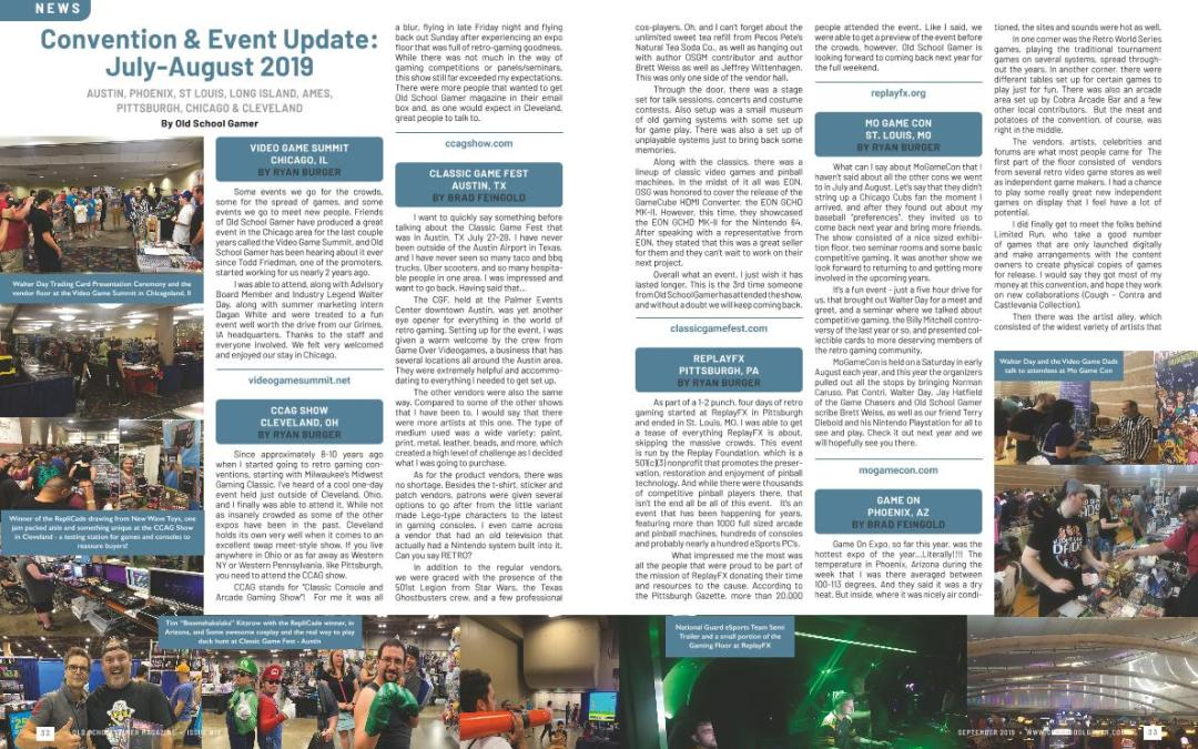 Convention & Event Update: July-August 2019 – By Old School Gamer Staff