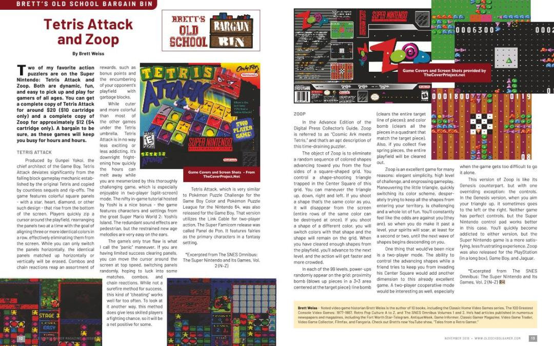 Brett's Old School Bargain Bin: Tetris Attack and Zoop- By Brett Weiss