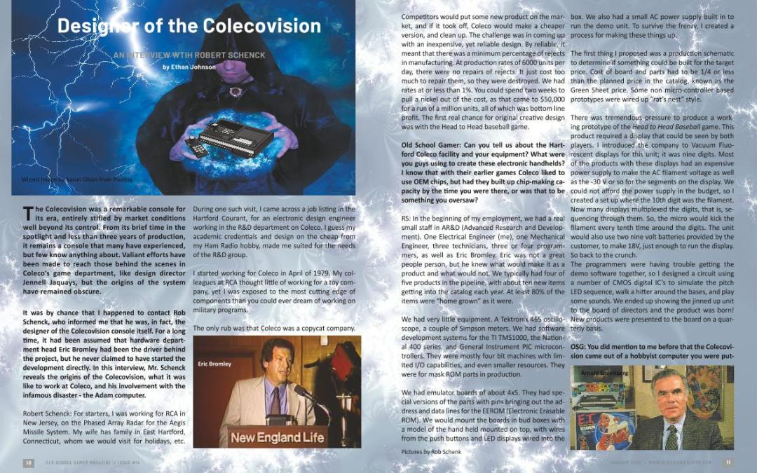Designer of the Colecovision An Interview With Robert Schneck – by Ethan Johnson