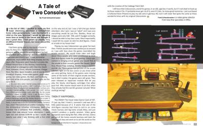 A Tale of Two Consoles – By Frank Schwartztrauber