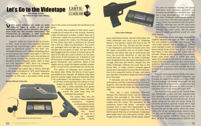 The Game Scholar – Let's Go to the Videotape By Leonard Herman The Father of Video Game History