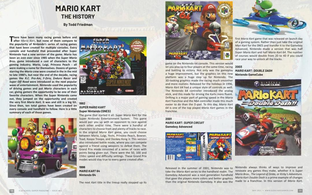 Mario Kart : The History – by Todd Friedman