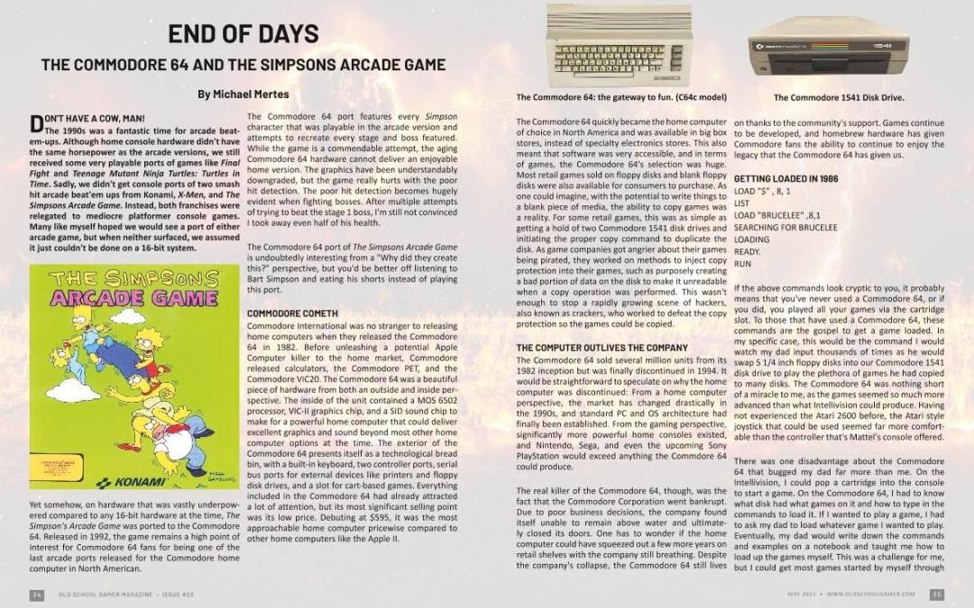 End Of Days : Simpsons on Commodore 64 – by Michael Mertes