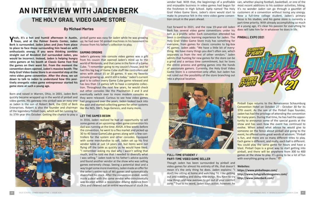 An Interview with Jaden Berk – by Michael Mertes
