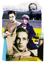 marlon brando collage design