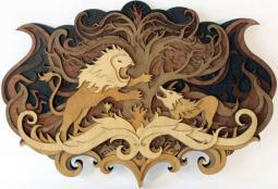 wood cutout sculpture by nartin tomsky