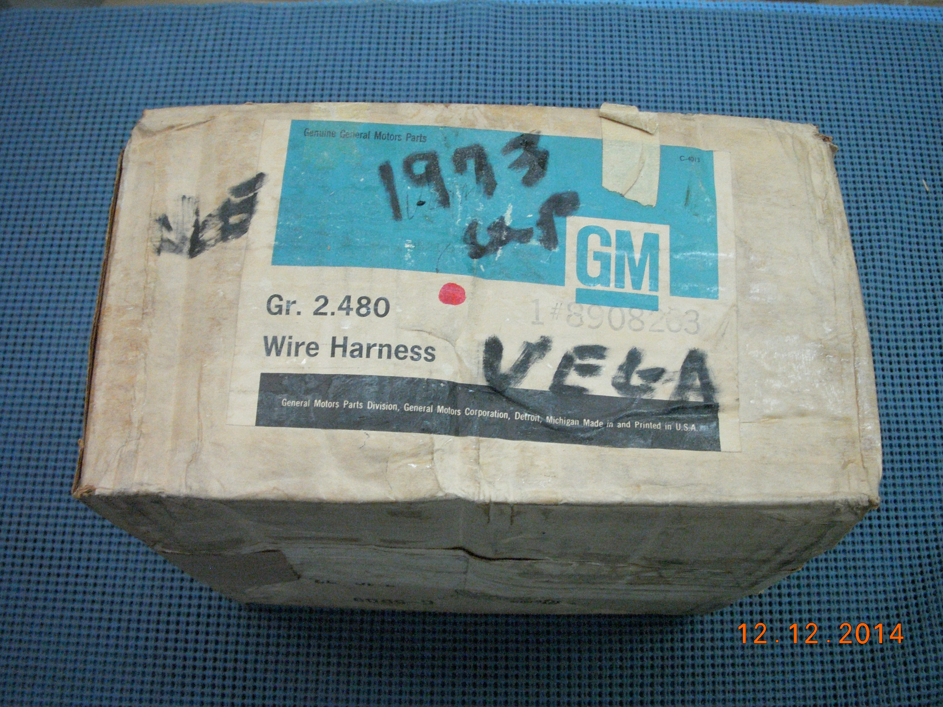 1973 chevrolet vega engine and generator wiring harness nos rh oldsobsolete com GM Wiring Harness Connectors Chevy Wiring Harness Diagram