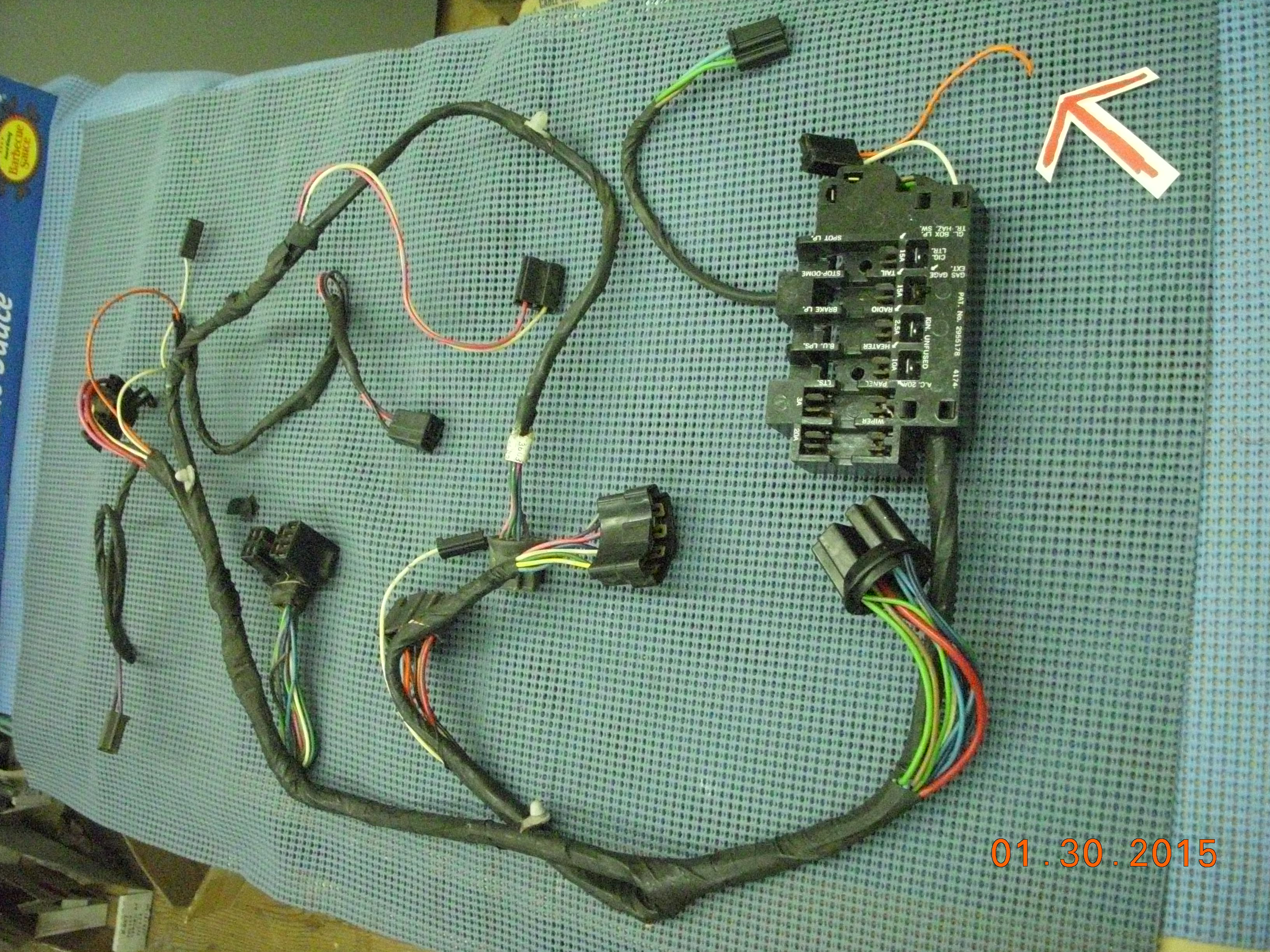 1963 gmc pickup instrument panel wiring harness assembly nos rh  oldsobsolete com 1962 GMC Pickup 1972