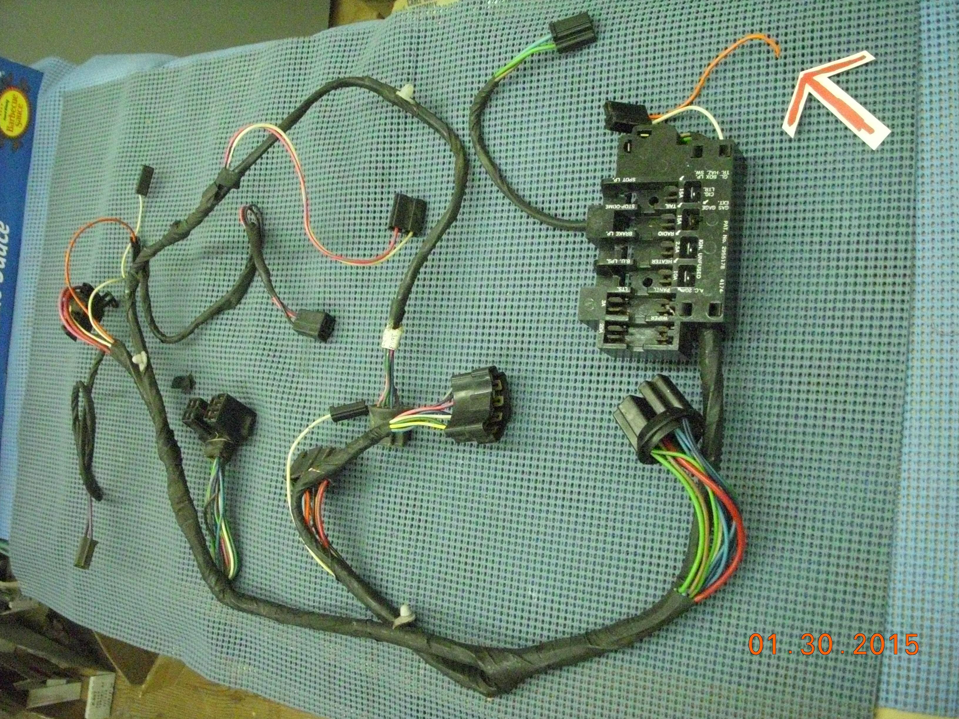 1963 gmc pickup instrument panel wiring harness assembly nos rh  oldsobsolete com 1962 GMC Pickup 1972
