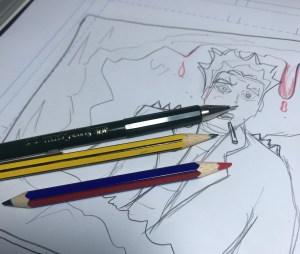 Material utililizado para dibujar el cómic. Creando un cómic autopublicado con Jota García.