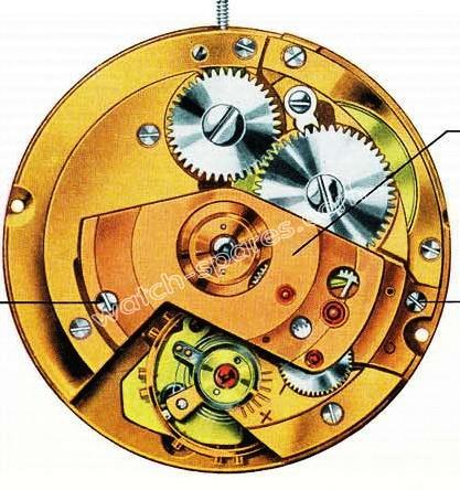 A Schild AS 1701 watch automatic parts