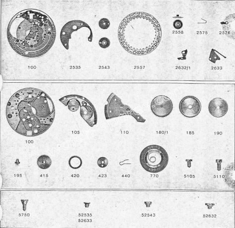Zodiac 68 watch date parts
