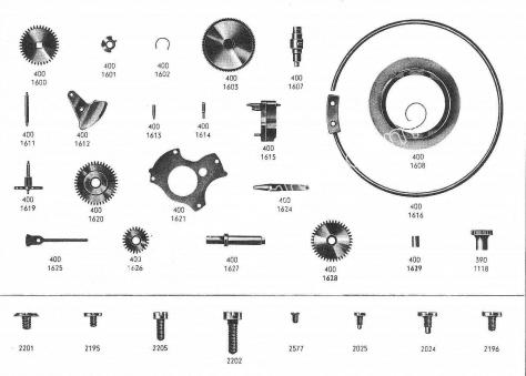 Omega 400 watch spare parts