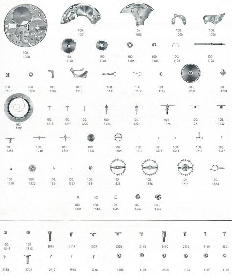 Omega 100 watch parts
