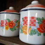 Shaxi Yunnan hotel wedding cups at Old Theatre Inn - Shaxi China