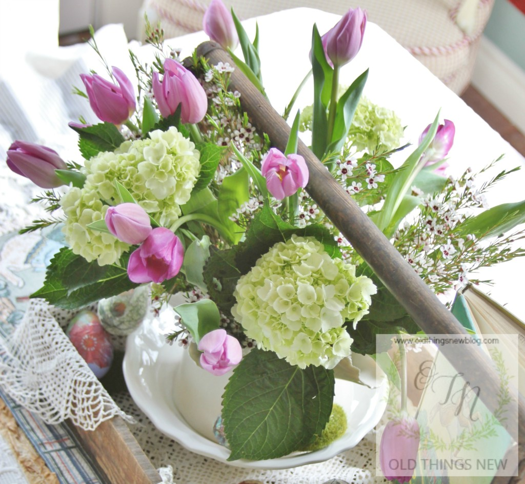 A Junky, Mossy, Lacy, Easter Centerpiece!