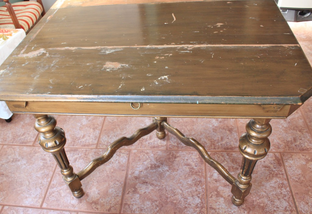 Antique table before