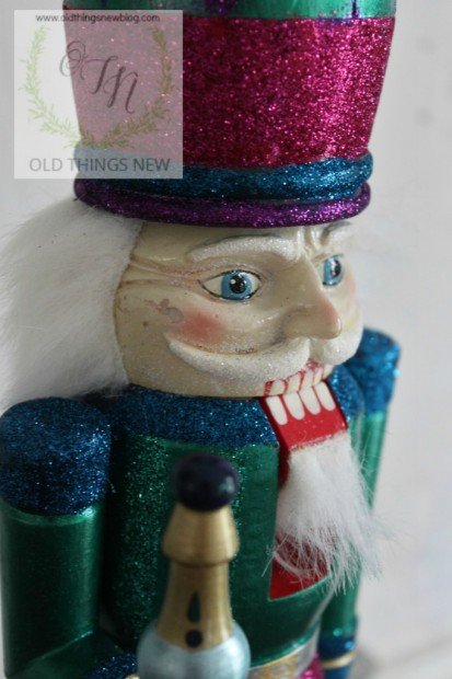Creating a glittery nutcracker from a thrift store find old things new glittery nutcracker after 012 solutioingenieria Image collections