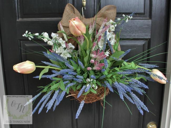 Spring Basket on Front Door 011