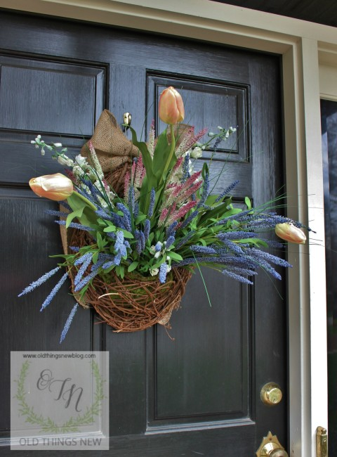 Spring Basket on Front Door 028a