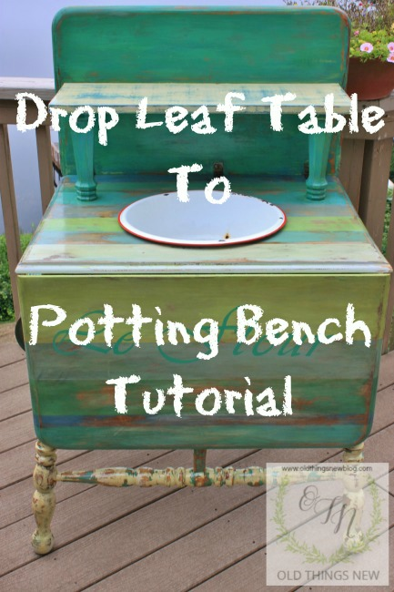 Drop Leaf to Potting Bench