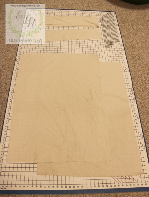 French Grain Sack Dog Bed 001