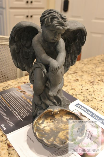 Angel - ageing with gesso 001a