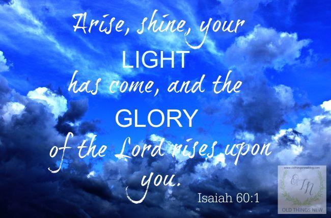 Arise, shine . . .
