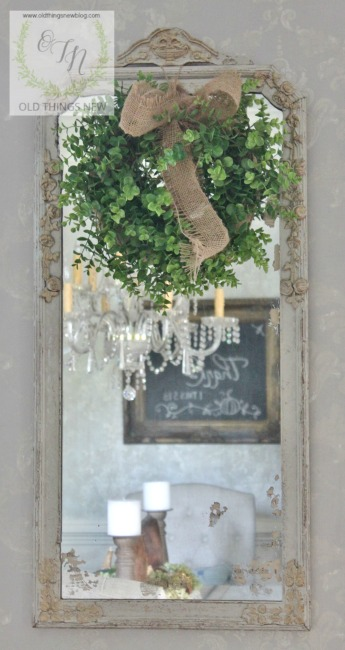 Vintage Music Antique Mirror