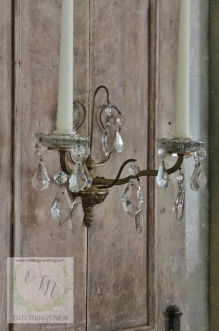 Limed Oak Wall Sconce