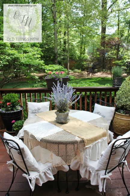 French Courtyard on a Backyard Deck – Old Things New on cottage style garden, french country garden wedding, french country garden shed, french home garden, french country garden beds, french decor garden, southwest style garden, french country garden accessories, asian style garden, santa barbara style garden, french cottage garden, french country landscaping, french water garden, french country gardens and patios, french country homes, french country farmhouse, vintage garden, french country garden layout, french country charm garden, french country design garden,