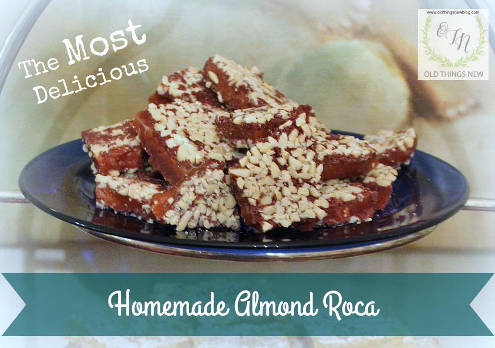 The BEST Homemade Almond Roca