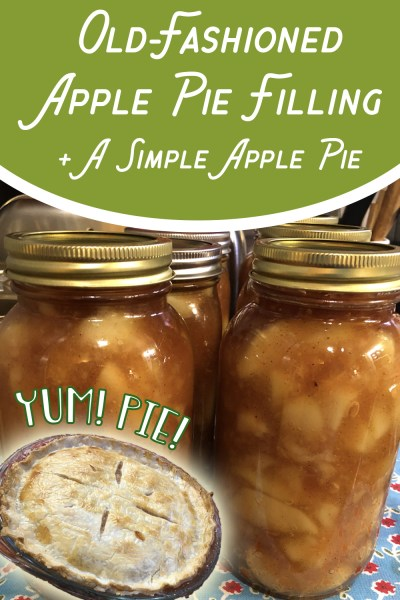 How to make old-fashioned apple pie filling (and a simple apple pie!)