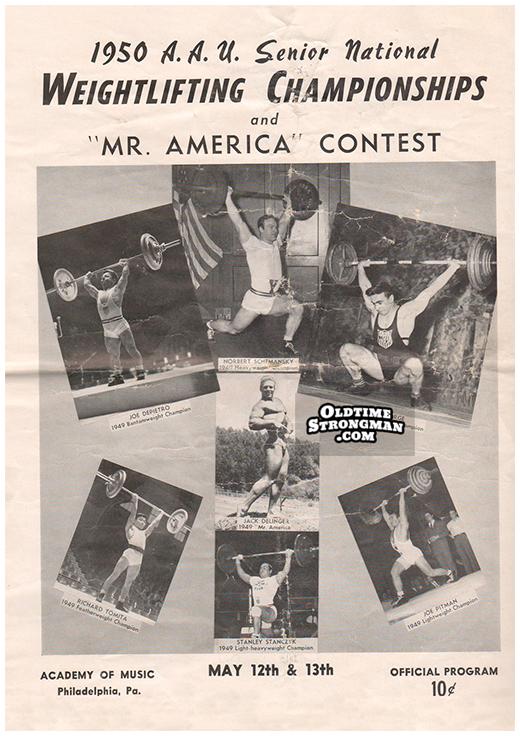 1950 AAU Sr. National Weightlifting Program