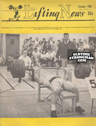 Iron Man Lifting News October 1968