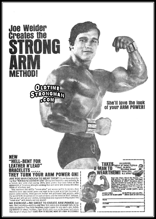 Joe Weider Creates the STRONG ARM Method!