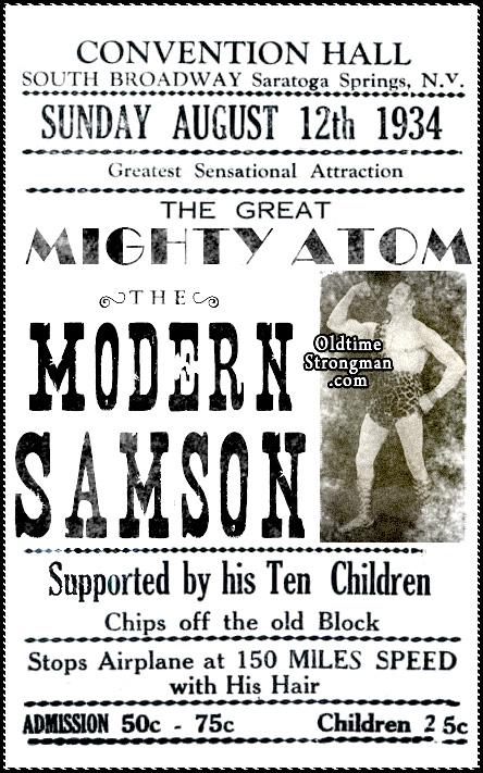The Great Mighty Atom ~ The Modern Samson