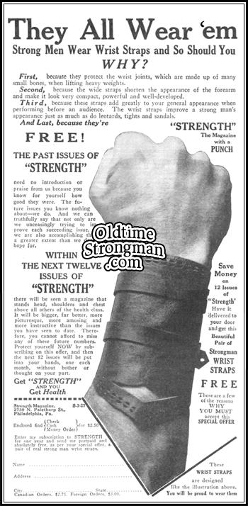 Strongman Wrist Straps
