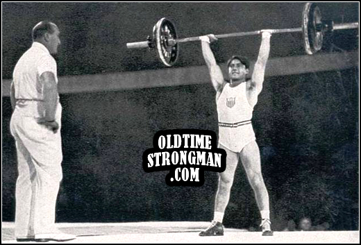 Tony Terlazzo's winning lift at the 1936 Olympics