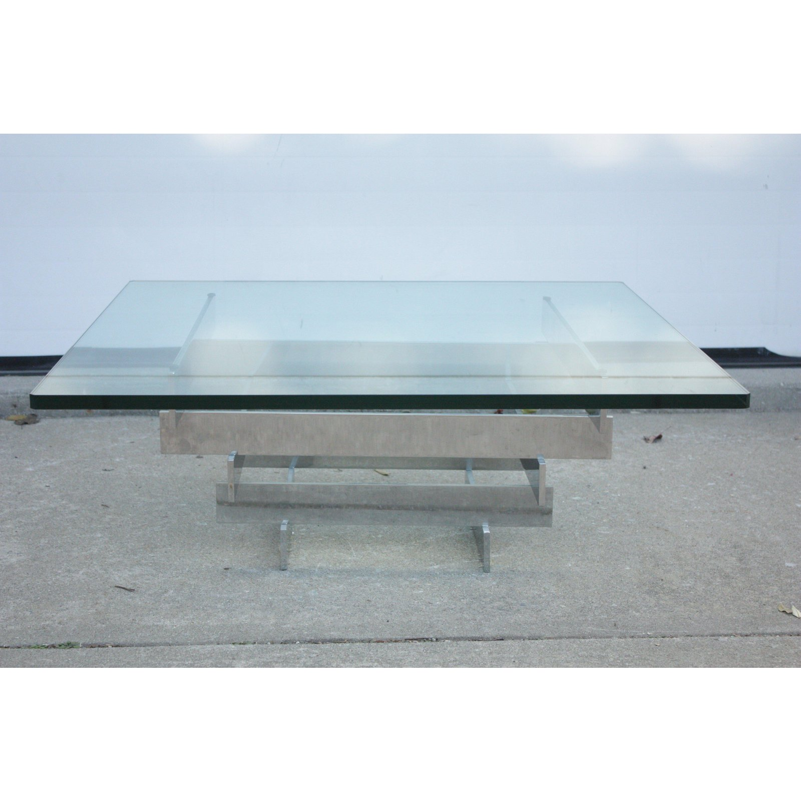 Mid Century Modern Chrome And Glass Table