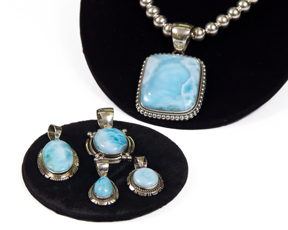 Larimar is a rare stone from the Caribbean