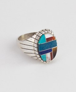 Ray Jack Multicolored Inlay Ring