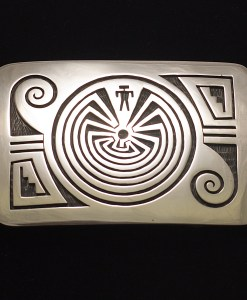 Augustine Mowa Man in the Maze Buckle