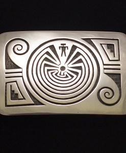 Augustine Mowa Man in the Maze Buckle