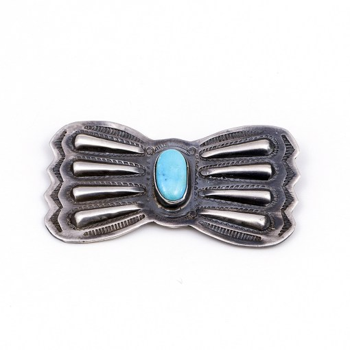 A Lewis Turquoise Bow Pin