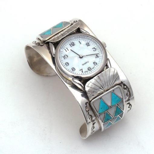Zuni artist T U Turquoise Watch